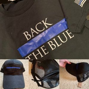 Thin blue line shirt and hat